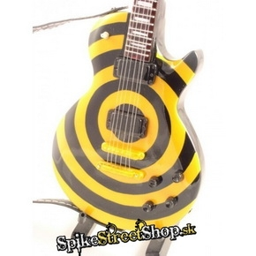 Gitara BLACK LABEL SOCIETY - GIBSON LES PAUL YELLOW BLACK BULL - Mini Guitar USA