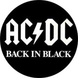 AC/DC - Back in Black - odznak