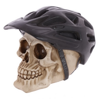 GOTHIC COLLECTION - Skull Decoration with Cycling Helmet - lebka