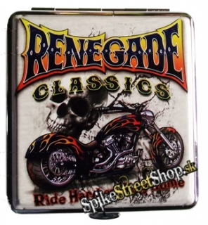 BIKER COLLECTION - Renegade Classic Ride Hard or Stay Home - kovová tabatierka