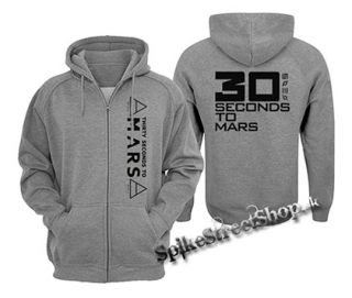 30 SECONDS TO MARS - Big Logo - šedá pánska mikina na zips 02a327c61b0