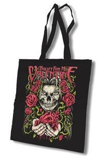 BULLET FOR MY VALENTINE - Skull Heart Rose Tote bag - taška cez plece