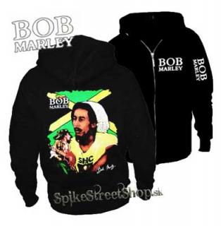 BOB MARLEY - Jamaica Man - čierna pánska mikina na zips (-30%  947e878d4cd