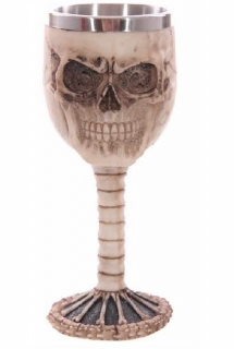 GOTHIC COLLECTION - Skull Spine Goblet Decorative - čaša