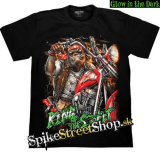 BIKER COLLECTION - King Of The Street - čierne pánske tričko