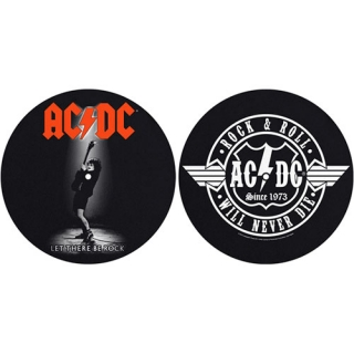 AC/DC - Let There Be Rock/Rock & Roll - slipmat sada