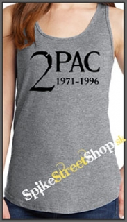 2 PAC - 1971-1996 - Ladies Vest Top - šedé