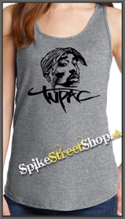 2 PAC - Portrait - Ladies Vest Top - šedé
