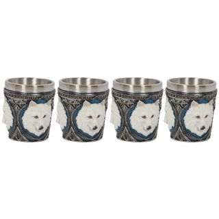 GOTHIC COLLECTION - Ghost Wolf Shot Glass (Set of 4) 6.5cm - pohár