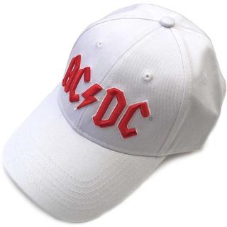 4b3cb8f79 AC/DC - Red on White Logo - biela šiltovka