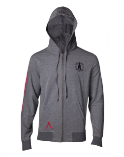 ASSASSINS CREED ODYSSEY - Taped Sleeve Hoodie - sivá pánska mikina