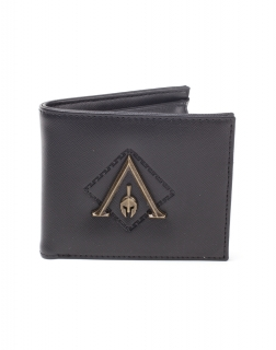 ASSASSINS CREED ODYSSEY - Metal Logo Badge Premium Bifold Wallet - peňaženka