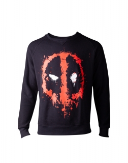 DEADPOOL - Dripping Face Men's Sweater - čierny pánsky sveter