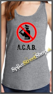 A.C.A.B. - Pictogram - Ladies Vest Top - šedé