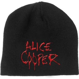 548c4b22a ALICE COOPER - Dripping Logo - čierna zimná čiapka