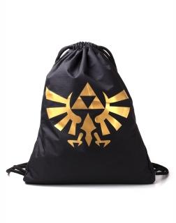 4468a81e9332 Školský chrbtový vak NINTENDO - Zelda Generic Metallic Gold Rubber Print  Gymbag