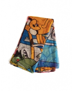 ADVENTURE TIME - All Characters All Over Fashion Scarf - šatka