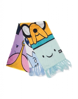ADVENTURE TIME - All Characters Knitted Scarf - šatka