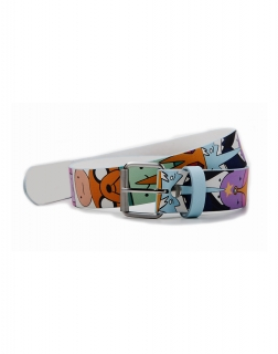 ADVENTURE TIME - All Over Characters Printed Belt - opasok s prackou