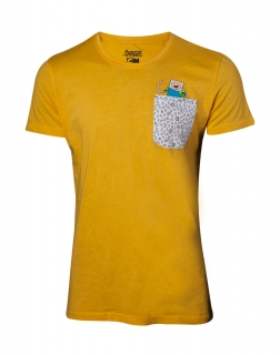 9ee6121b58a0d ADVENTURE TIME - Jake and Finn in Chestpocket T-shirt - žlté pánske tričko