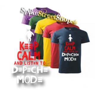 fa88124964 DEPECHE MODE - Keep Calm And Listen To Depeche Mode - farebné detské tričko