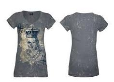 683f9b6e8016 ALCHEMY - Deadly Queen - sivé dámske tričko