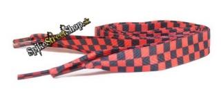 9c3a4565d1a59 ŠNÚRKY - SKA Black & Red Chessboard - hrubšie