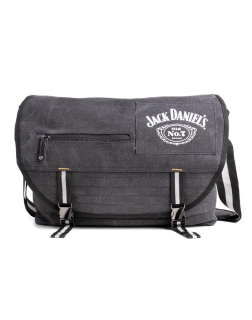 JACK DANIELS - Bottle Logo Canvas Messenger Bag - taška