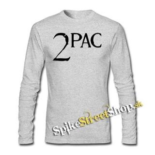 a88239e6e28b 2 PAC - Logo - šedé pánske tričko s dlhými rukávmi