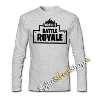 d381ebf89e34 FORTNITE BATTLE ROYALE - šedé pánske tričko s dlhými rukávmi