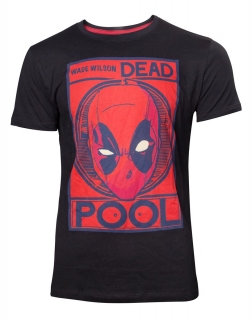 c5094bf17dbf DEADPOOL - Wade Wilson Poster T-shirt - čierne pánske tričko