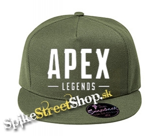 "APEX LEGENDS - White Logo - khaki šiltovka model ""Snapback"""
