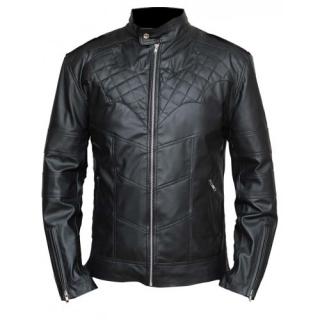 a0507143e BATMAN - Arkham Knight Leather Jacket - čierna pánska kožená bunda  (Výpredaj)