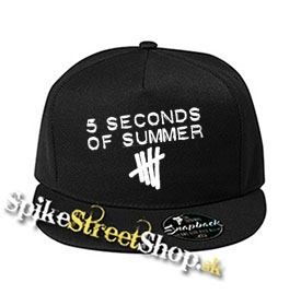 "5 SECONDS OF SUMMER - Logo - čierna šiltovka model ""Snapback"""