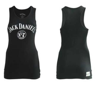 JACK DANIELS - Black Female No 7 Tanktop - čierny dámsky top