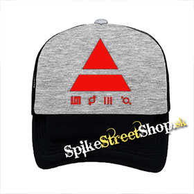 "30 SECONDS TO MARS - Red Triad - šedočierna sieťkovaná šiltovka model ""Trucker"""