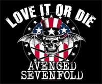 Nášivka AVENGED SEVENFOLD - Love it or Die Official Patch