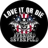 AVENGED SEVENFOLD - Love It Or Die - odznak