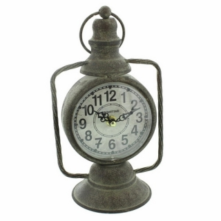 GOTHIC COLLECTION - Hometime Old Fashioned Lantern Design Clock - stolové hodiny