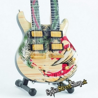 Gitara CARLOS SANTANA - DOUBLE NECK DRAGON SIGNATURE - Mini Guitar USA