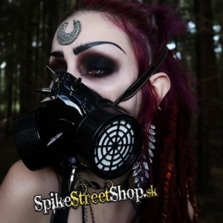CYBERPUNK COLLECTION - Gas Mask With Spikes - maska