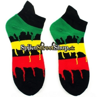 Ponožky RASTA - Dripping Colours Design Socks