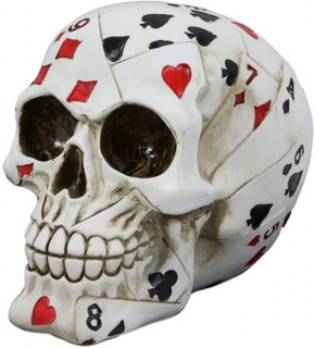 GOTHIC COLLECTION - Dead Mans Hand Card Design 15cm - lebka