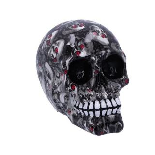 GOTHIC COLLECTION - Bloodshot Ornament Design 18cm - lebka