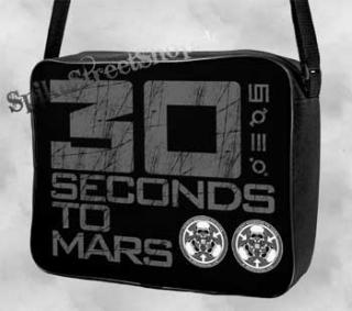 30 SECONDS TO MARS - Black/White Logo - taška na rameno