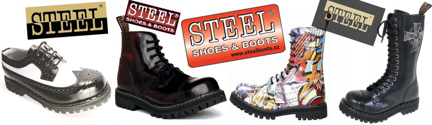 Kvalitné kožené topánky STEEL s oceľovou špičkou a skrutkovanou vzdušnou  podrážkou v 17 farebných kombináciách edac56faa63