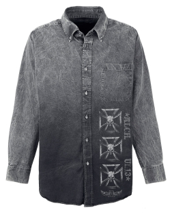 ALCHEMY - Iron Cross Road Shirt - sivá košeľa