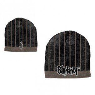SLIPKNOT - Black Gray Striped Beanie - zimná čiapka